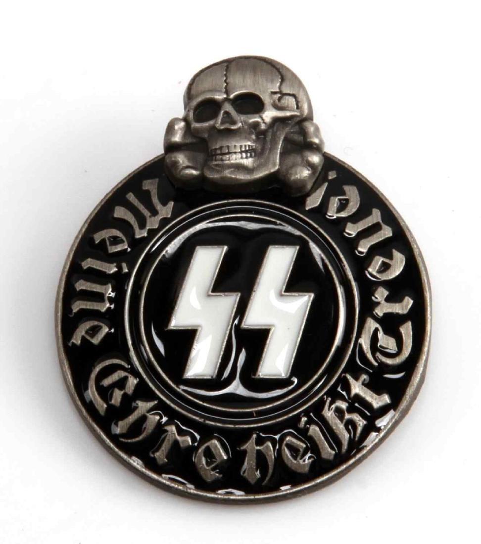 WWII GERMAN THIRD REICH WAFFEN SS PARTY BADGE