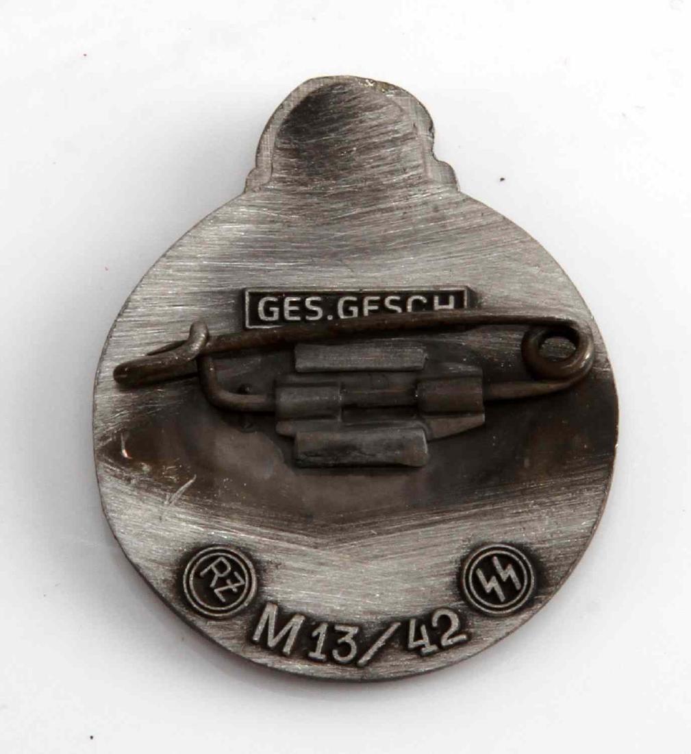 WWII GERMAN THIRD REICH WAFFEN SS PARTY BADGE - 2