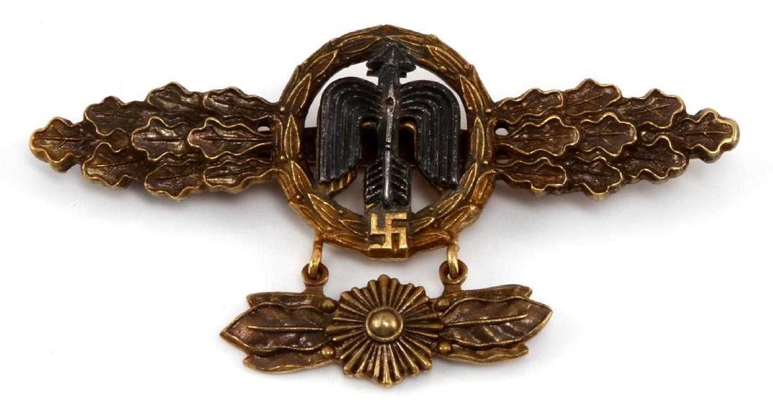 GERMAN WWII GOLD LUFTWAFFE FIGHTER FLIGHT CLASP