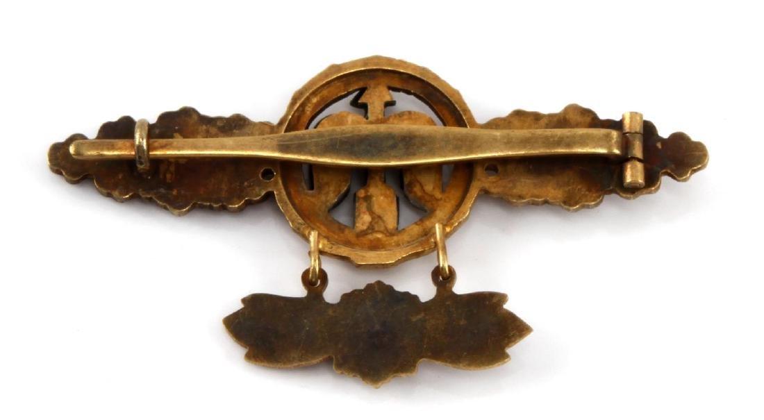 GERMAN WWII GOLD LUFTWAFFE FIGHTER FLIGHT CLASP - 2