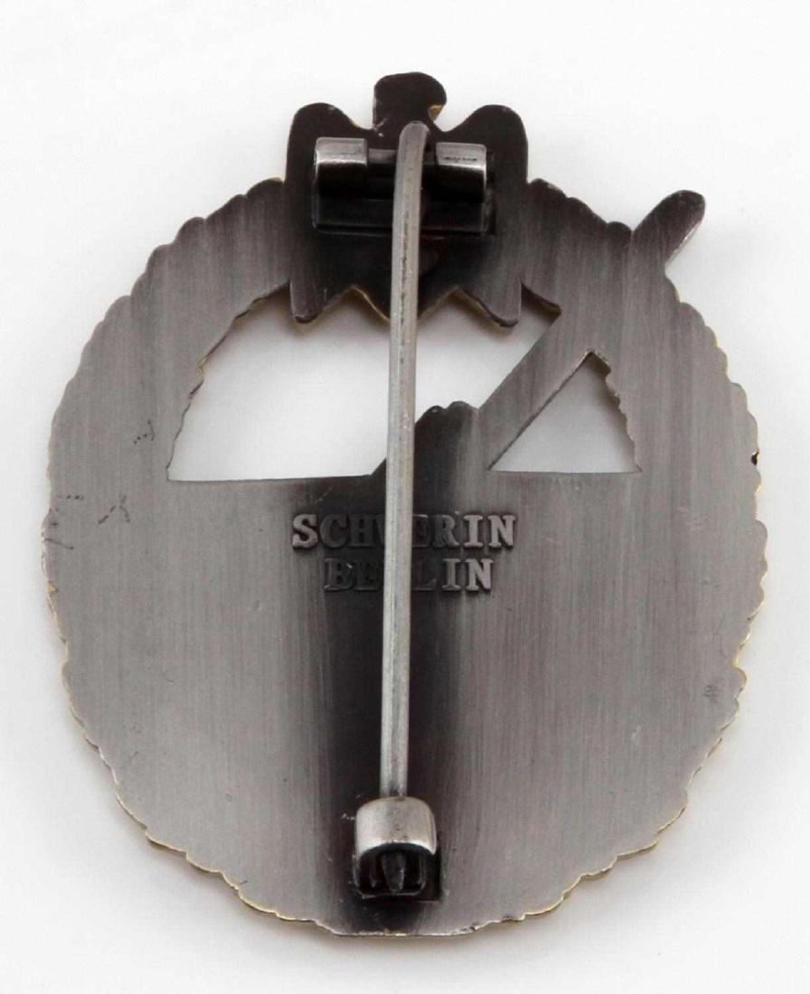 GERMAN WWII KREIGSMARINE COASTAL ARTILLERY BADGE - 2