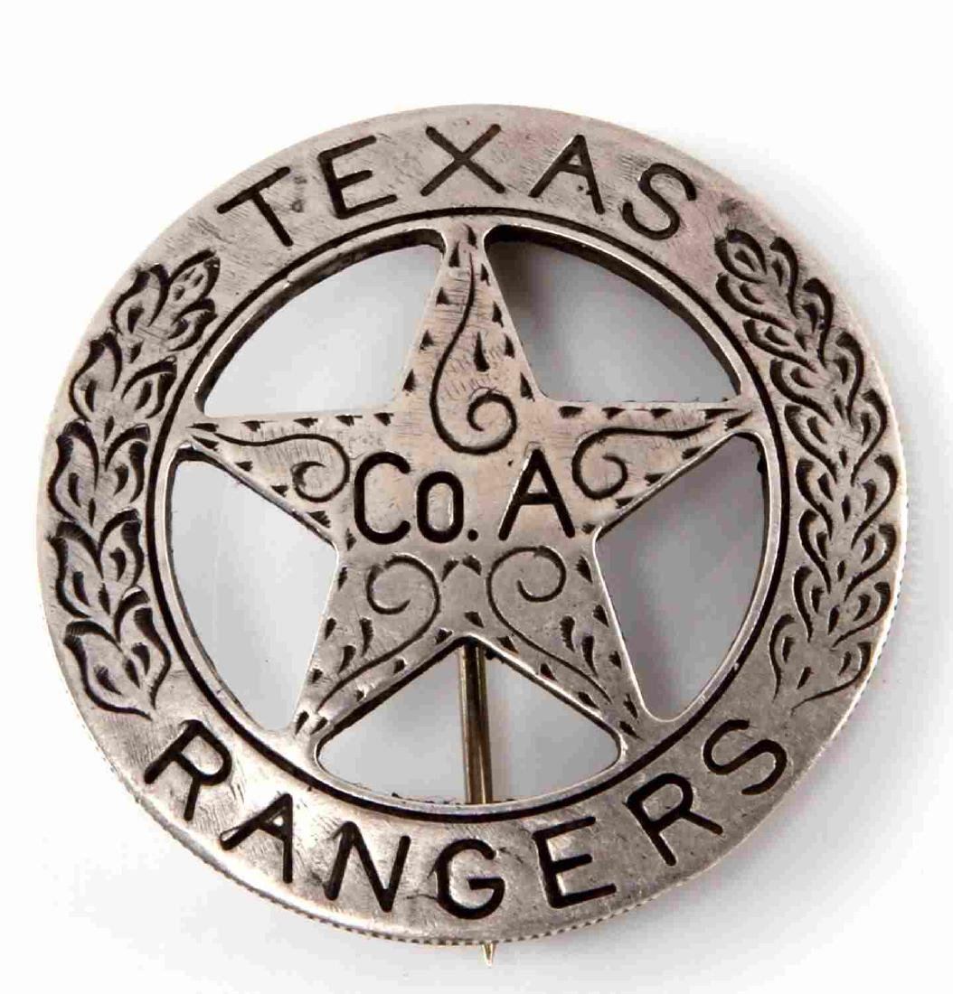 OLD WEST TEXAS RANGERS CO A MEXICAN PESO LAW BADGE