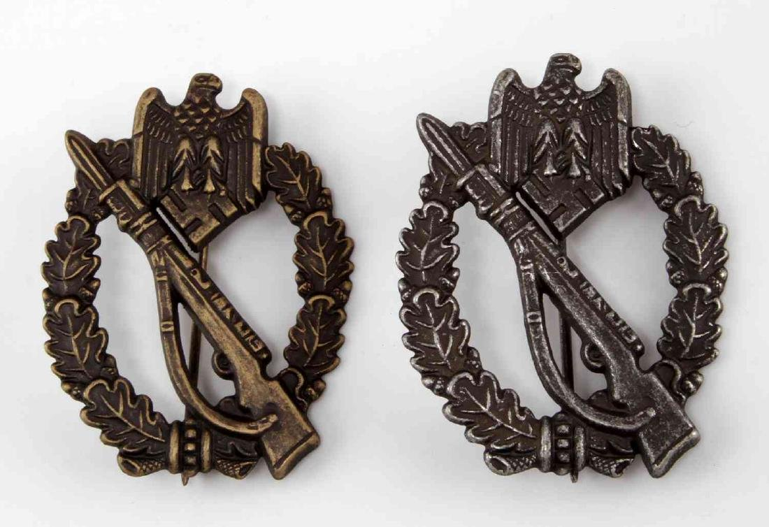 2 GERMAN WWII ARMY INFANTRY ASSAULT BADGE LOT