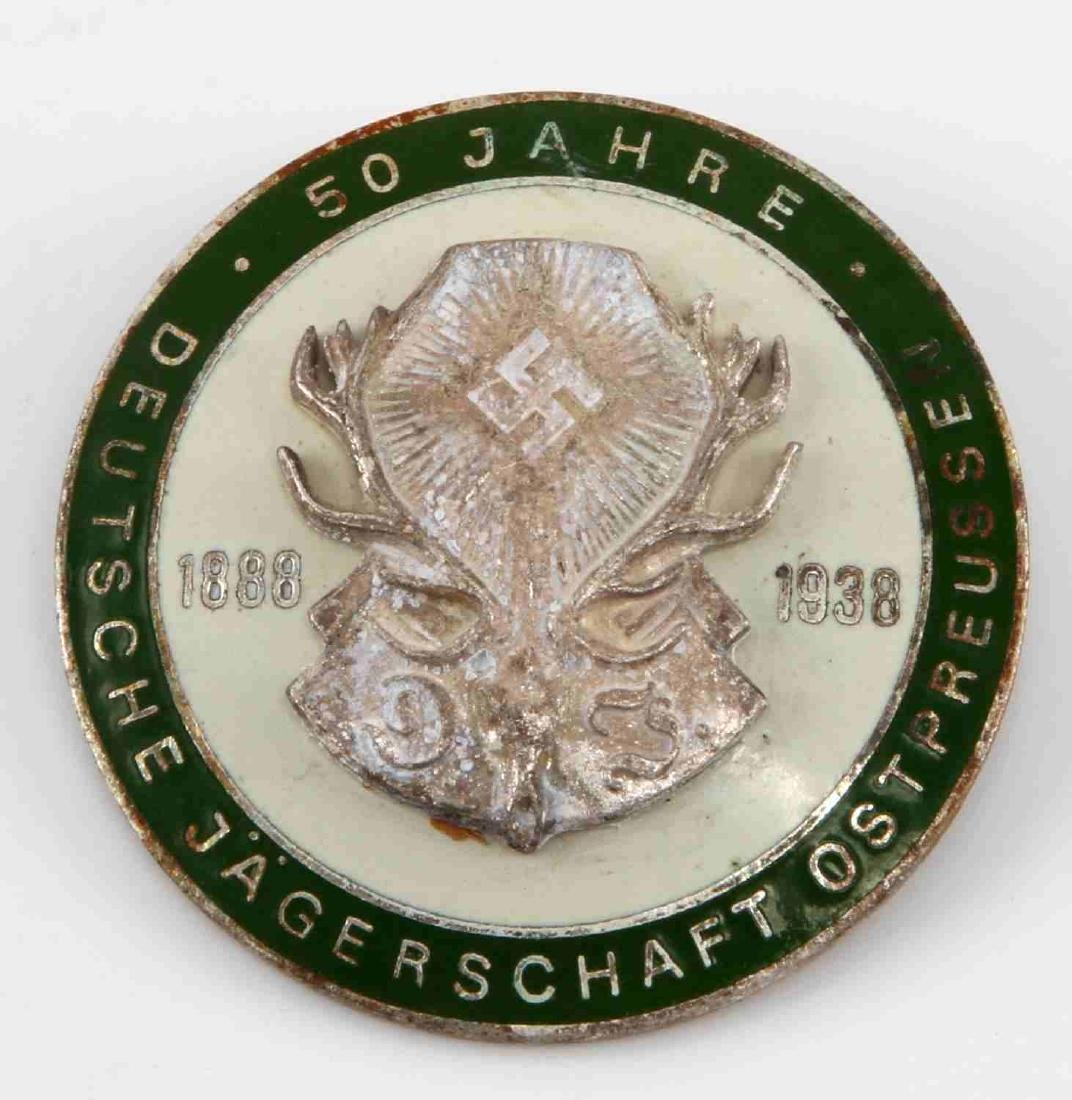 WWII GERMAN 3RD REICH 50 HUNTING ASSOCIATION BADGE