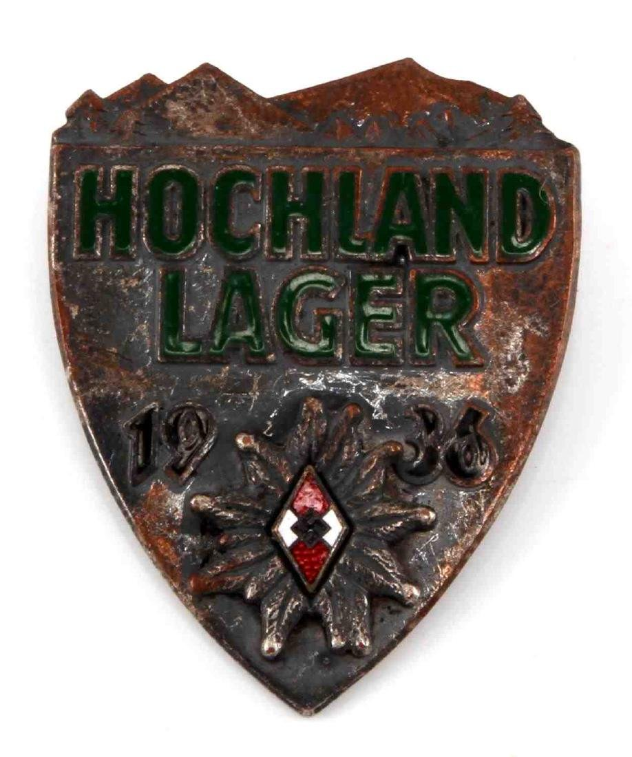 WWII GERMAN TR HITLER YOUTH HOCKLAND BADGE