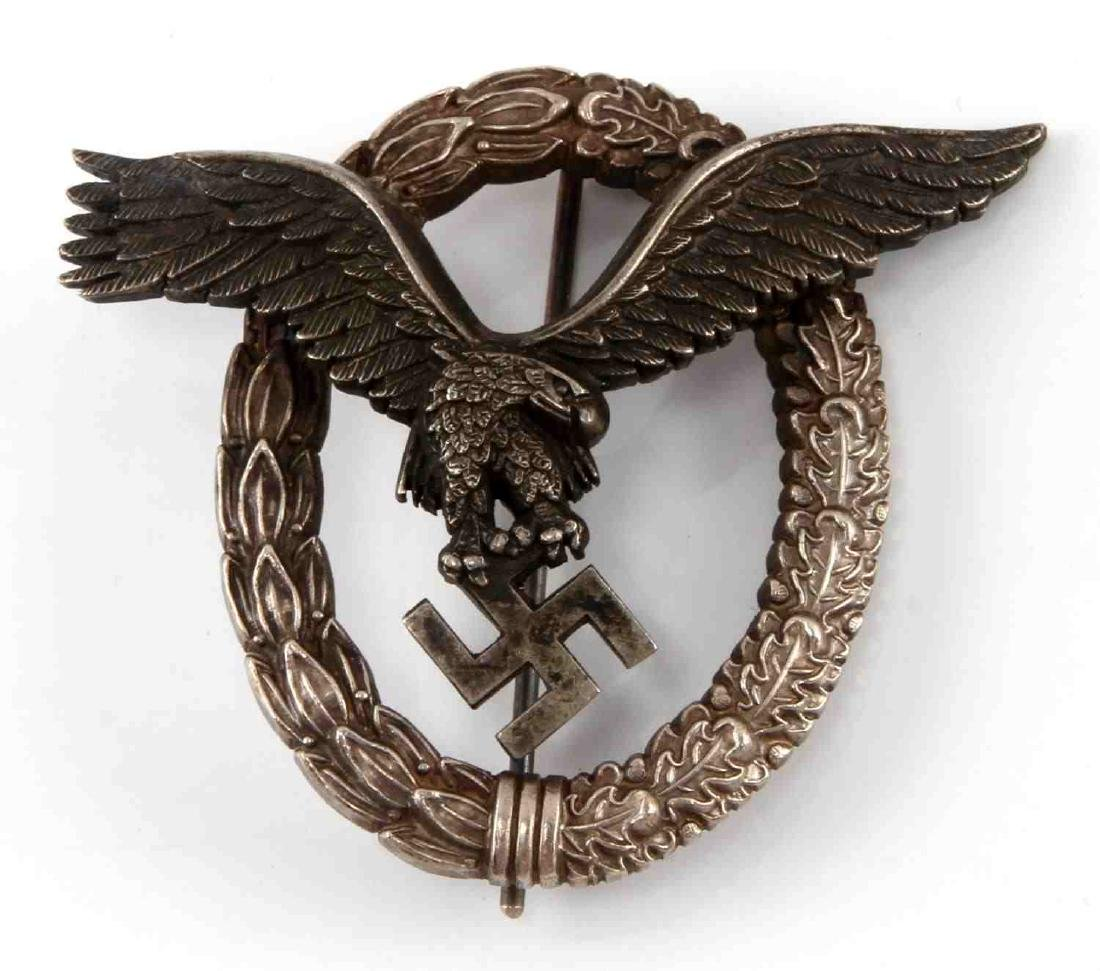 GERMAN WWII LUFTWAFFE PILOT QUALIFICATION BADGE