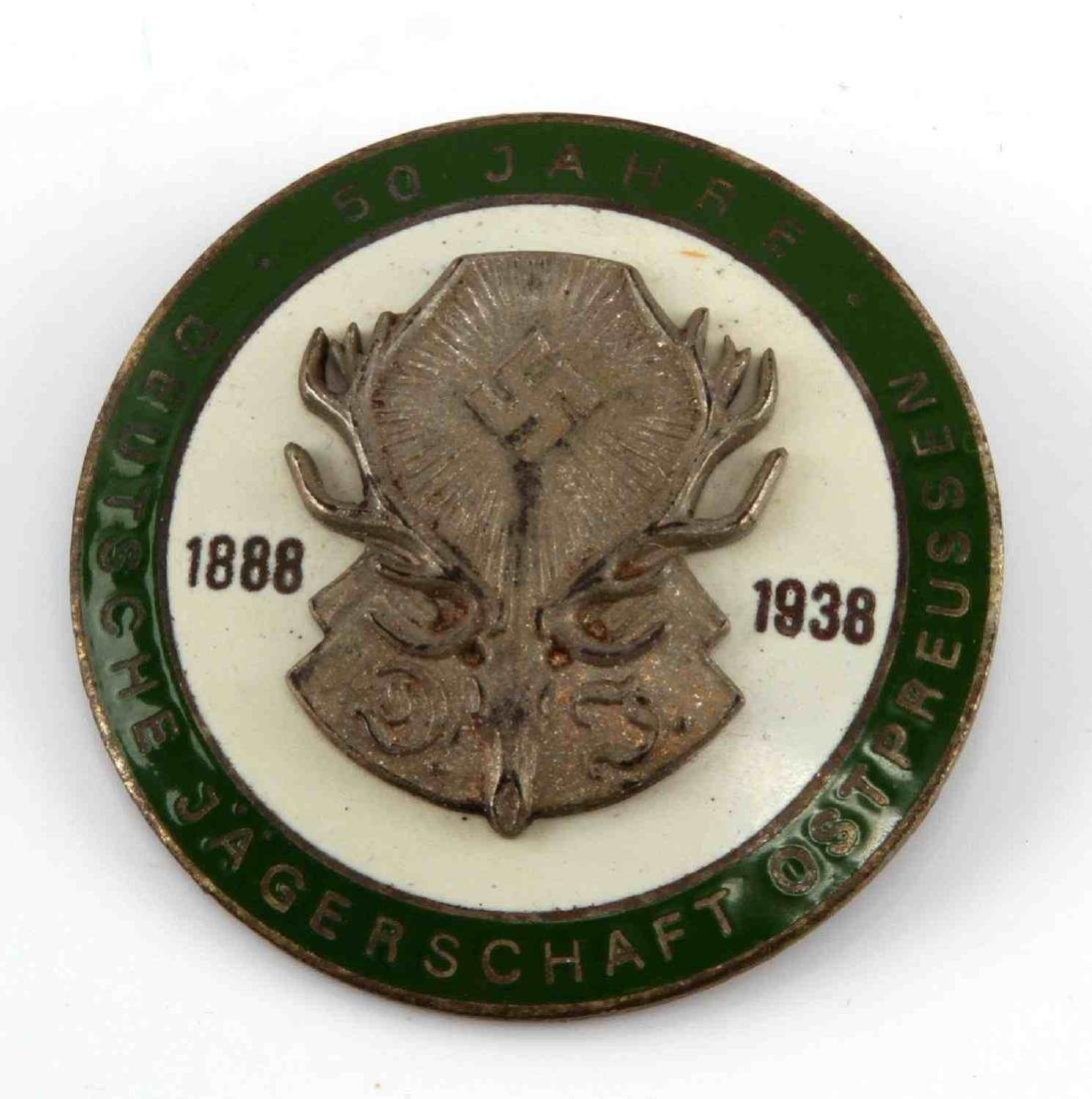 GERMAN WWII 50 YEAR HUNTING ASSOCIATION BADGE