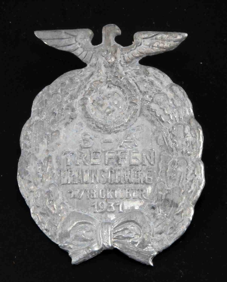 GERMAN WWII 3RD REICH 1931 SA TREFFEN RALLY BADGE