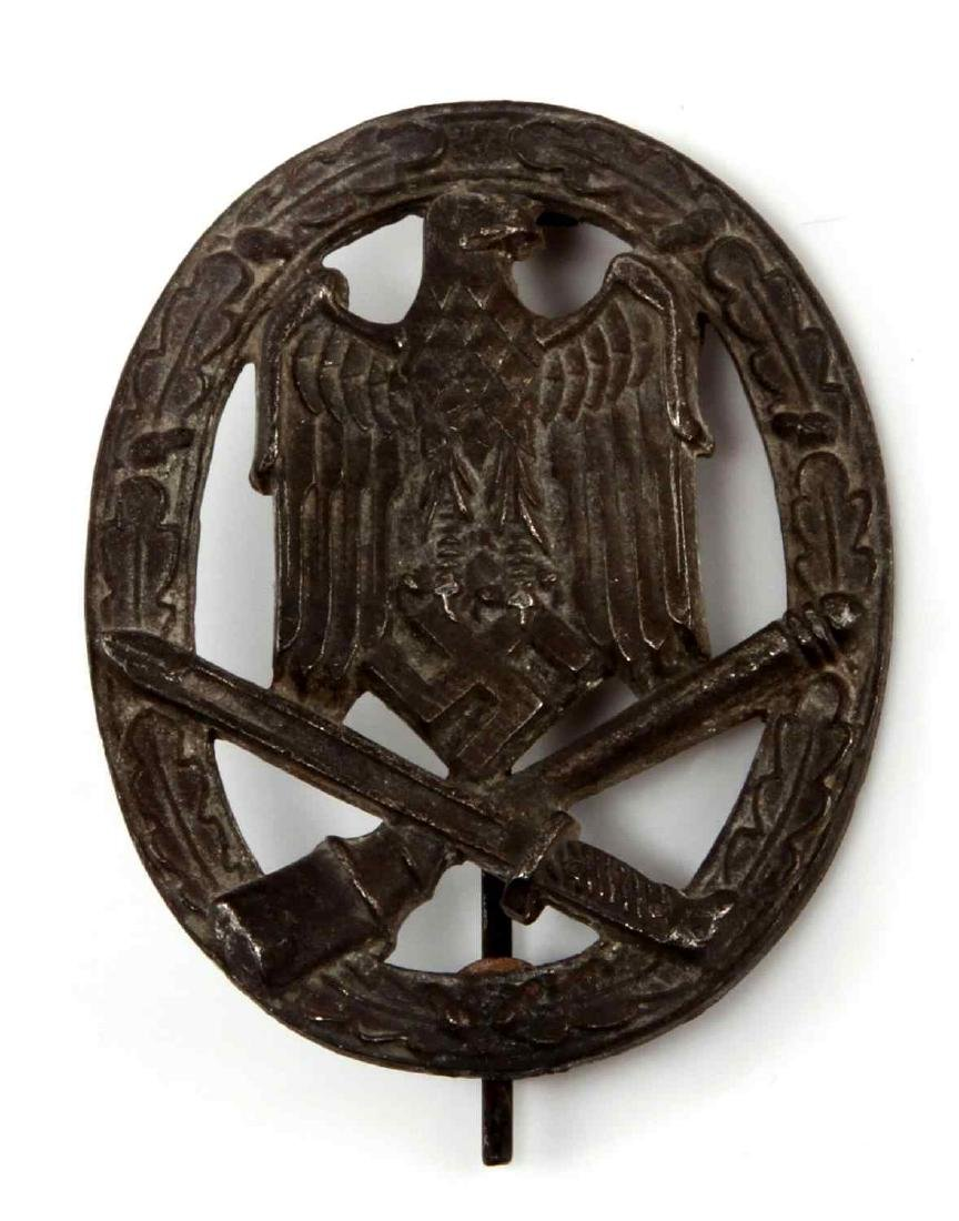 GERMAN WWII SILVER ARMY GENERAL ASSAULT BADGE