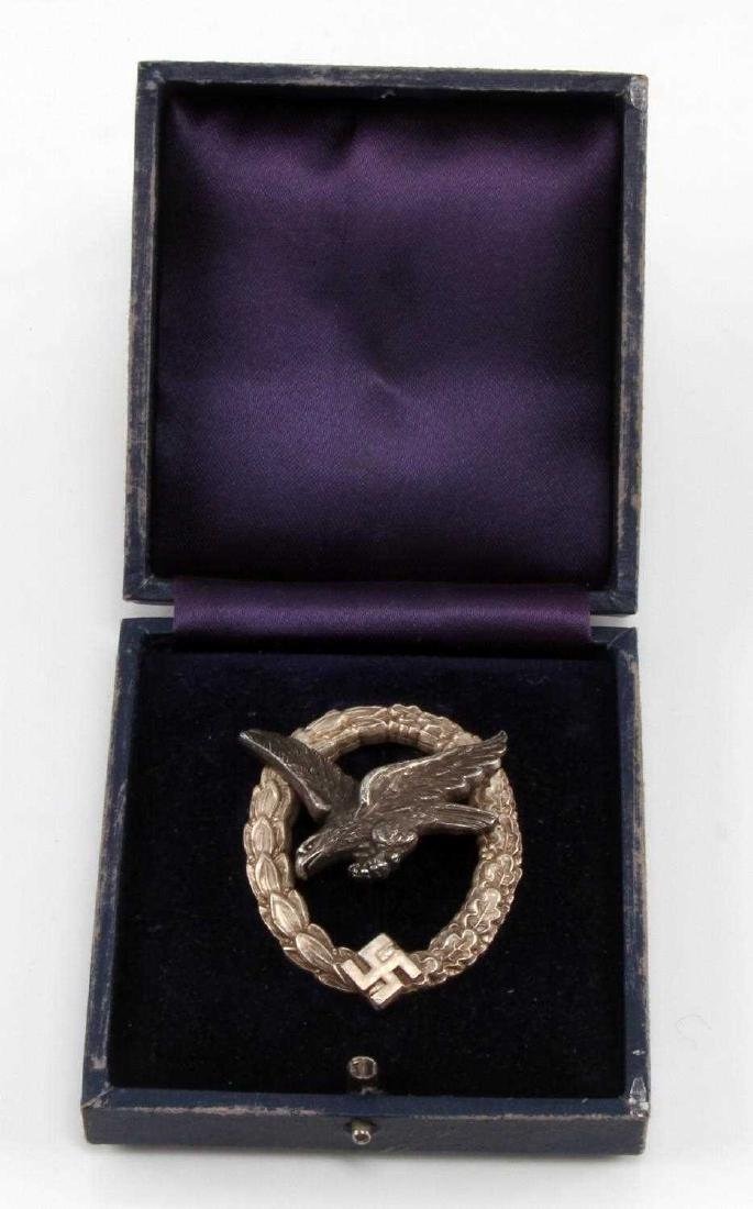 WWII GERMAN TR LUFTWAFFE AERIAL GUNNER BADGE