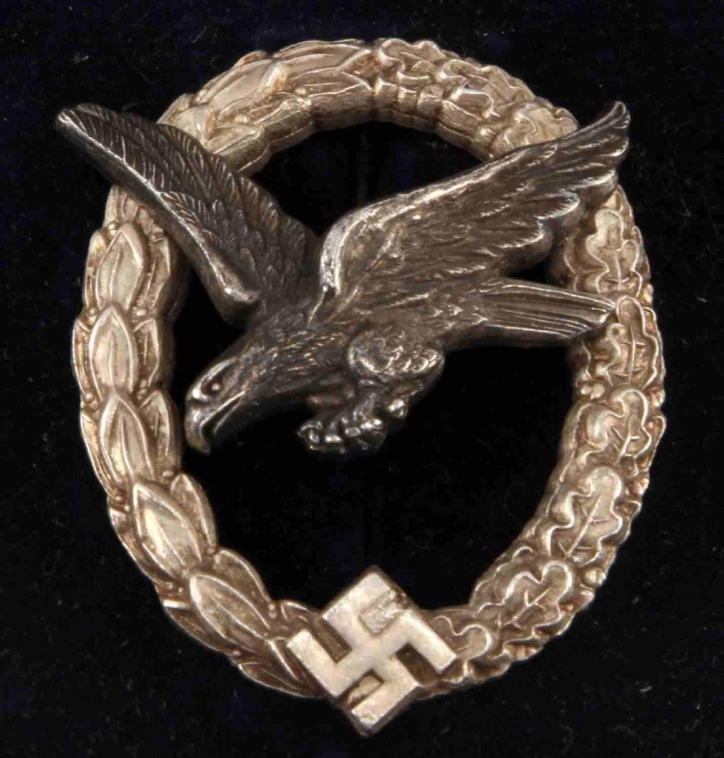 WWII GERMAN TR LUFTWAFFE AERIAL GUNNER BADGE - 2