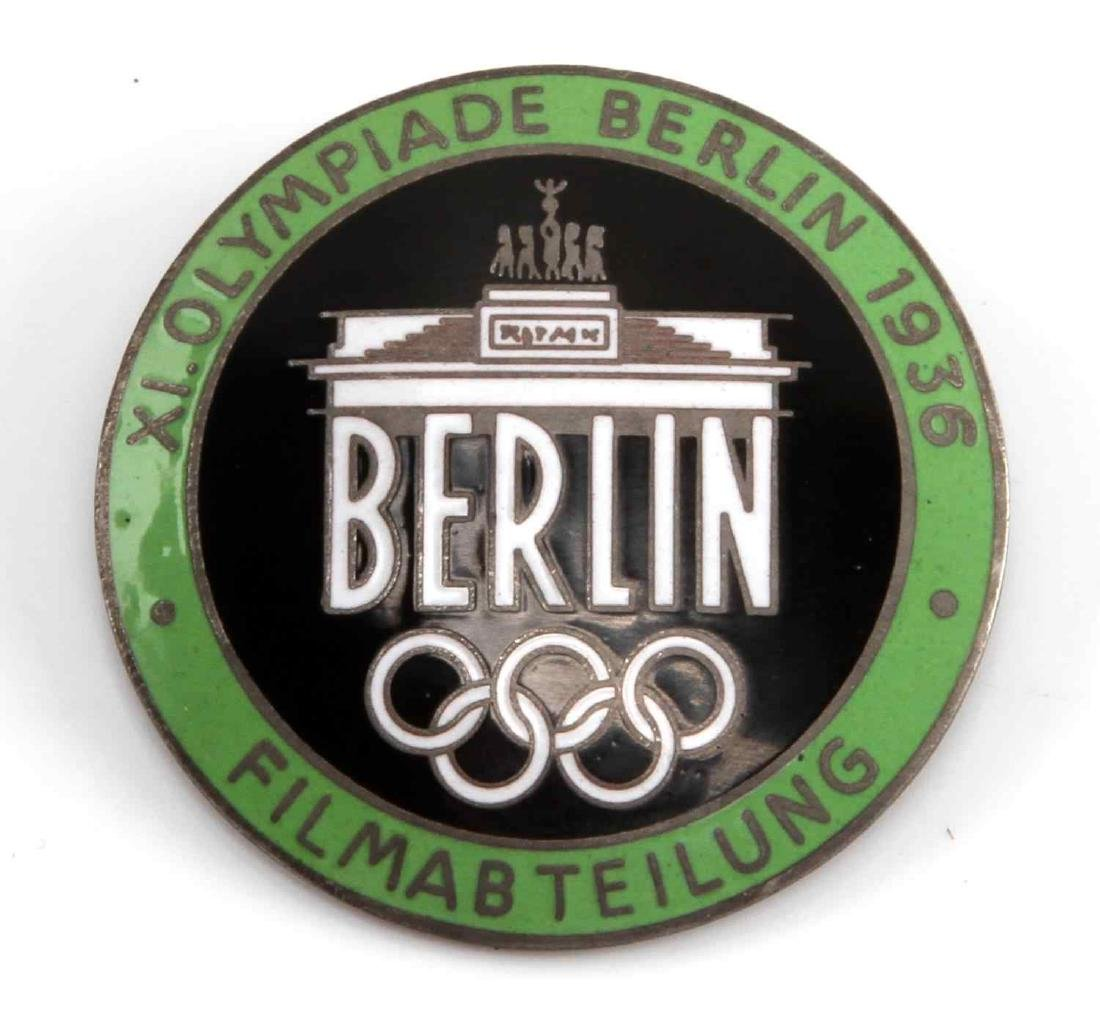 GERMAN WWII 1936 SUMMER OLYMPICS FILM MAKER BADGE