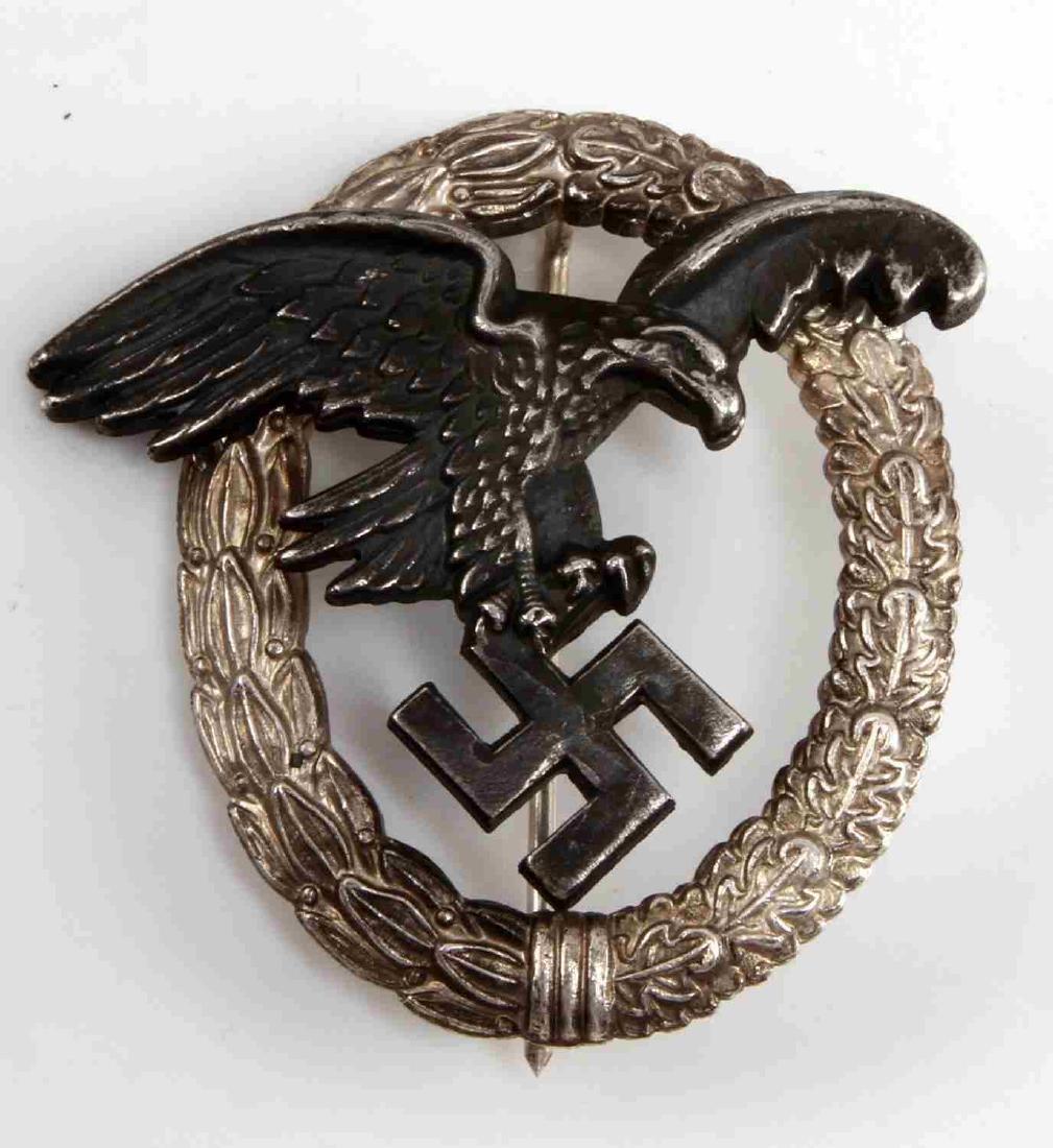 GERMAN WWII LUFTWAFFE OBSERVER BADGE JMME & SOHN