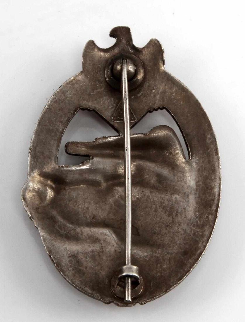 WWII GERMAN THIRD REICH SILVER TANK ASSAULT BADGE - 2