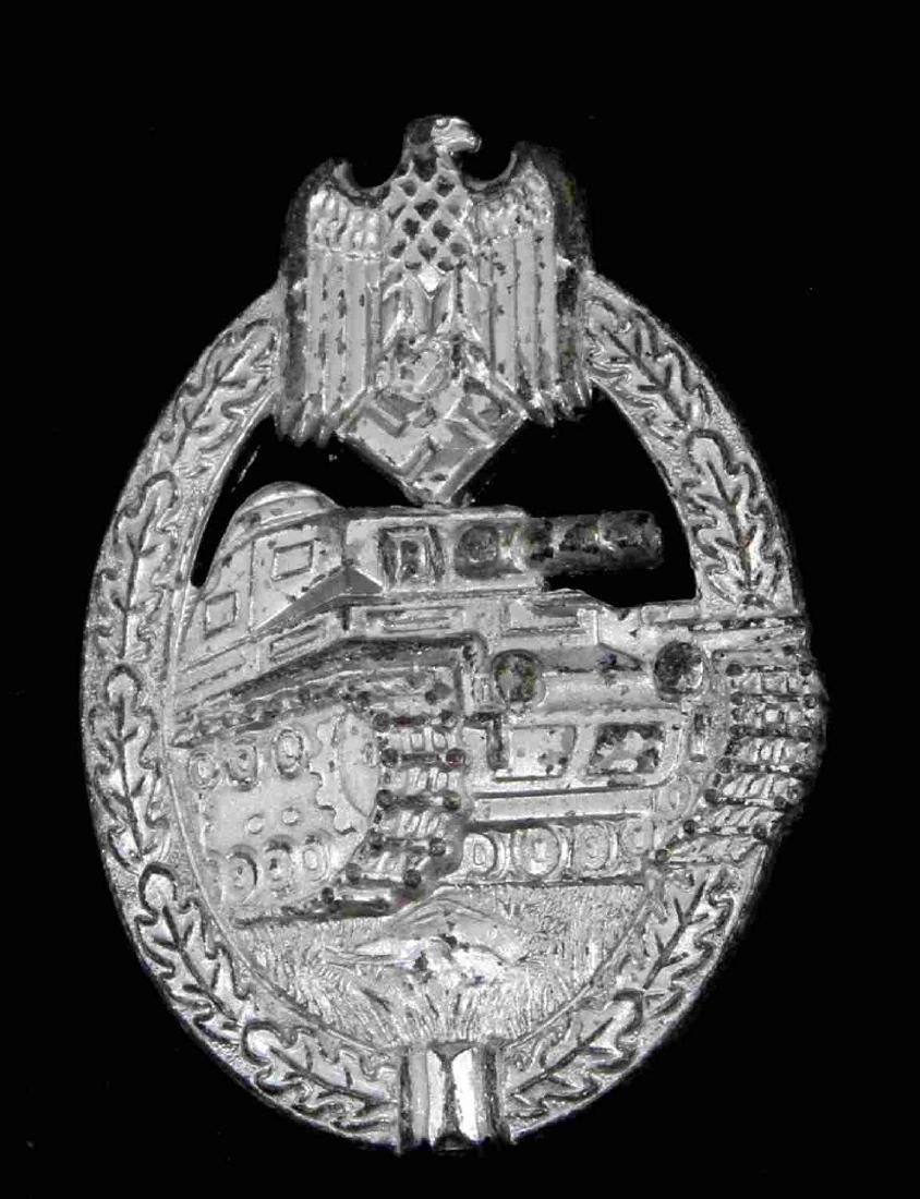 GERMAN WWII PANZER ASSAULT BADGE IN SILVER FLL