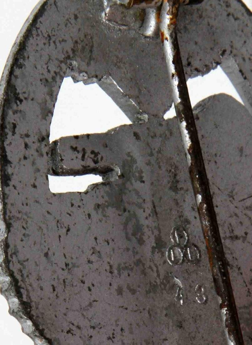 GERMAN WWII PANZER ASSAULT BADGE IN SILVER FLL - 3