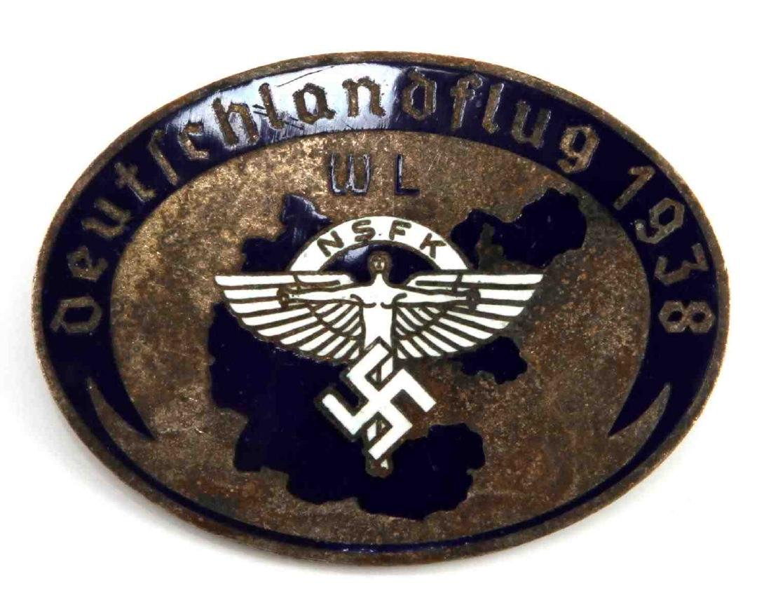 GERMAN WWII 3RD REICH 1938 NSFK GLIDER KORPS BADGE