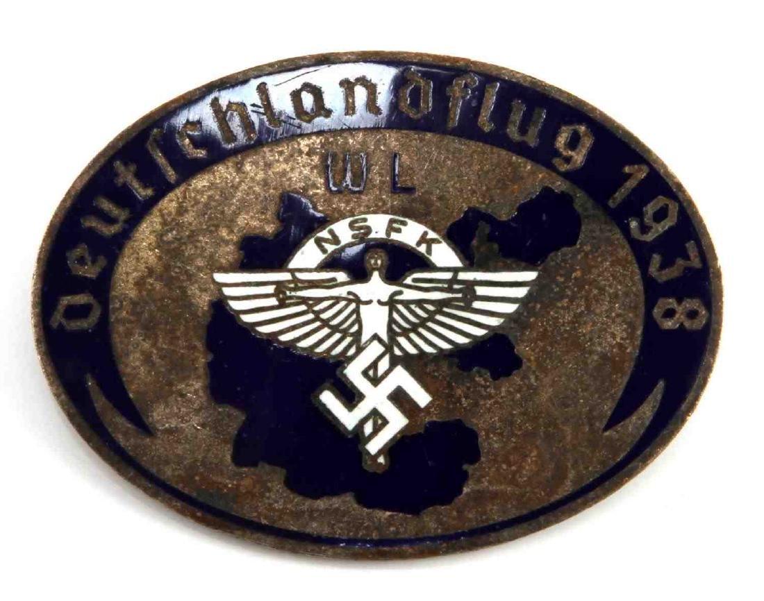 GERMAN WWII 3RD REICH 1938 NSFK GLIDER KORPS BADGE