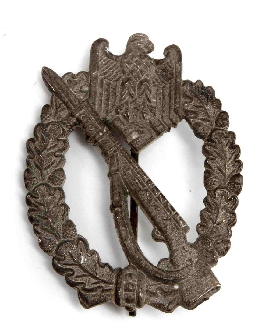 WWII GERMAN  REICH SILVER INFANTRY ASSAULT BADGE