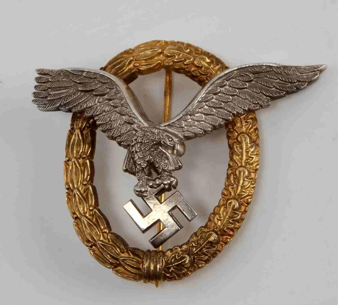 GERMAN WWII THIRD REICH PILOT OBSERVER BADGE