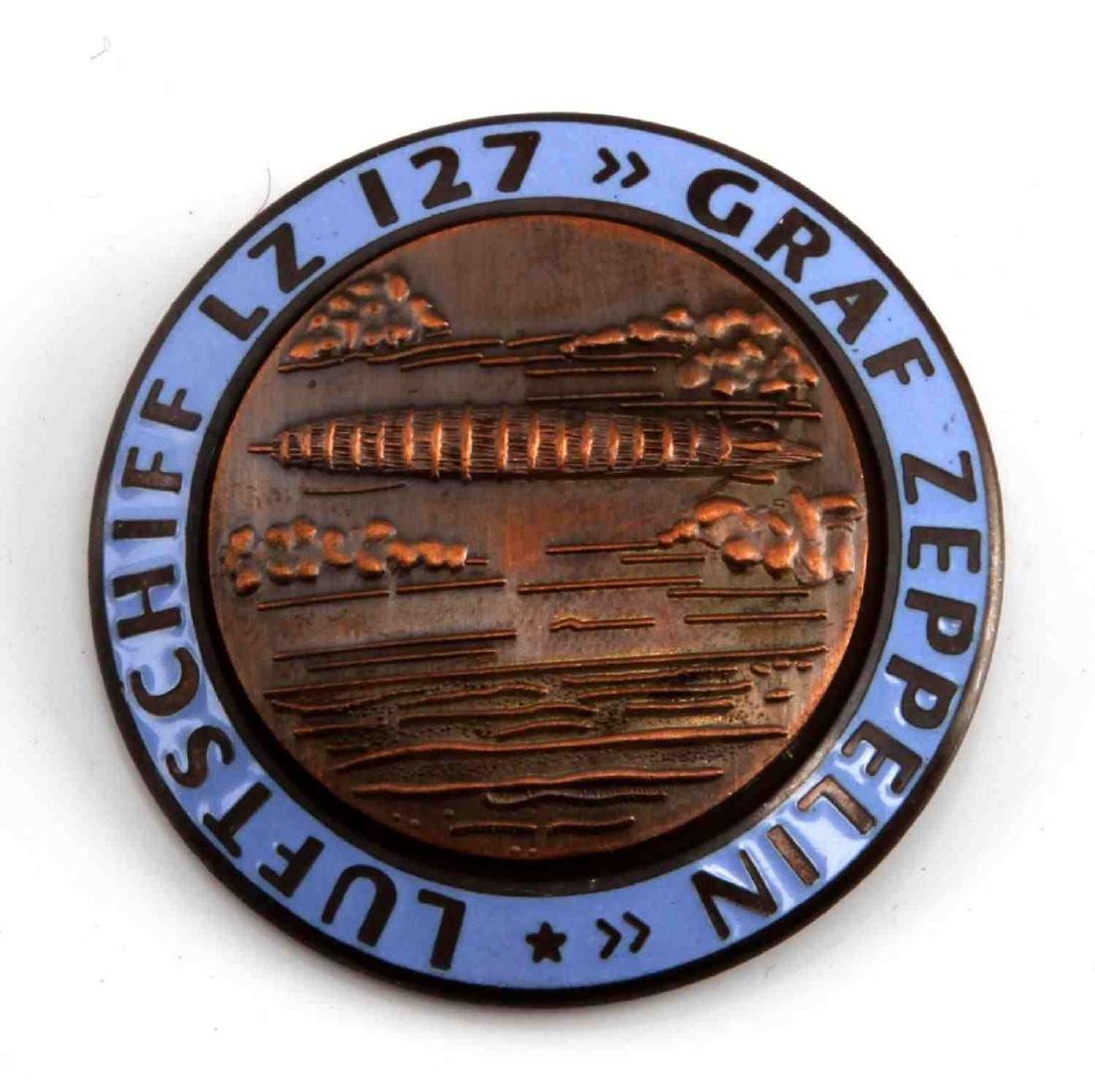GERMAN WWII GRAF ZEPPELIN LZ 127 AIR SHIP BADGE