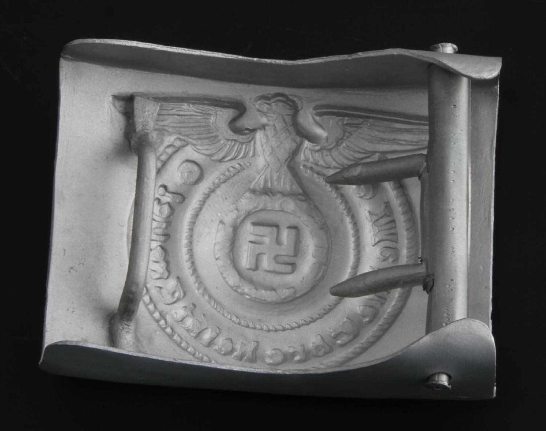 GERMAN WWII WAFFEN SS ENLISTED MAN BELT BUCKLE - 2