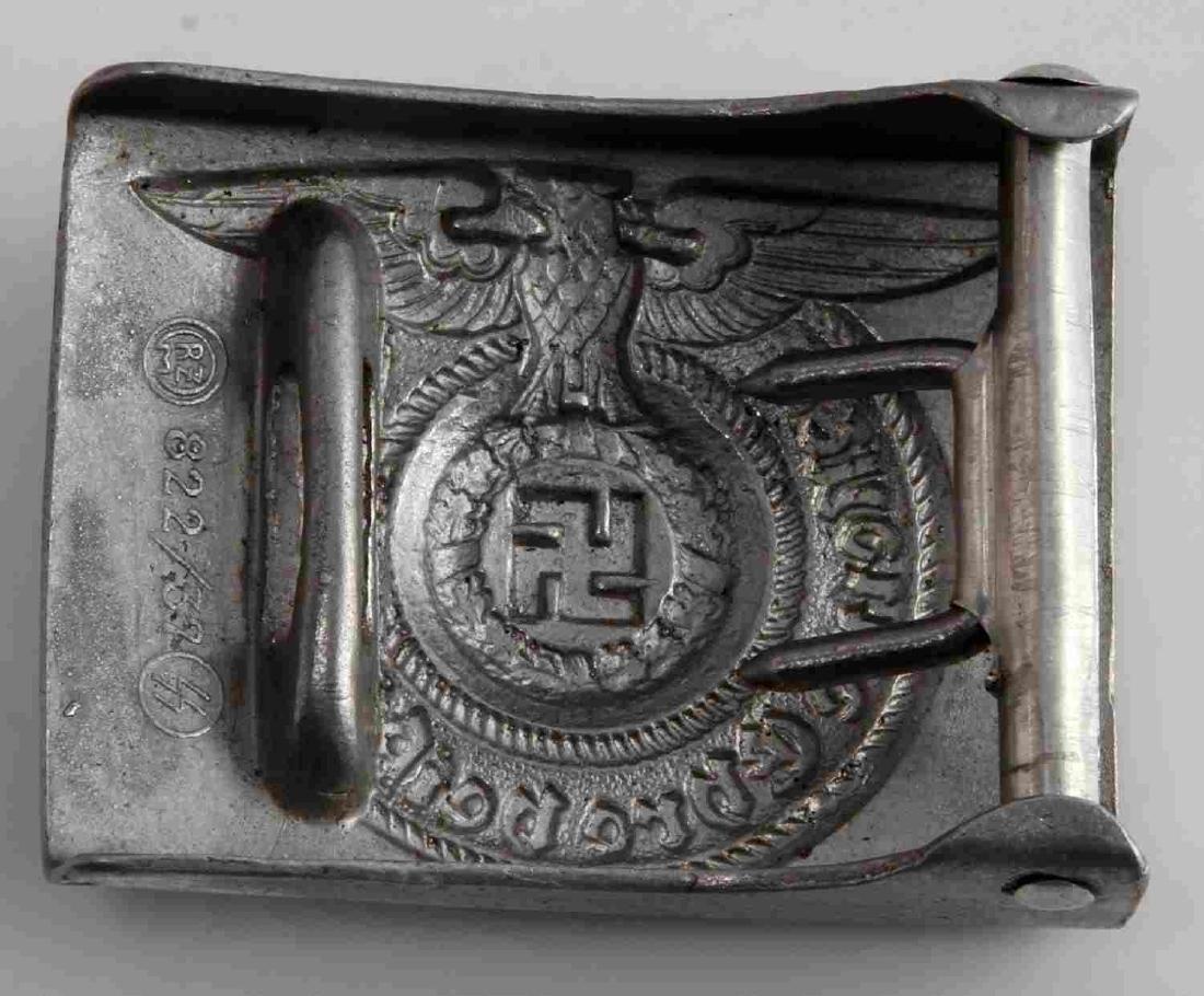 WWII GERMAN THIRD REICH WAFFEN SS EM BELT BUCKLE - 2