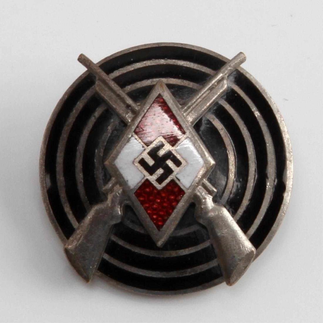 GERMAN THIRD REICH HITLER YOUTH MARKSMAN BADGE