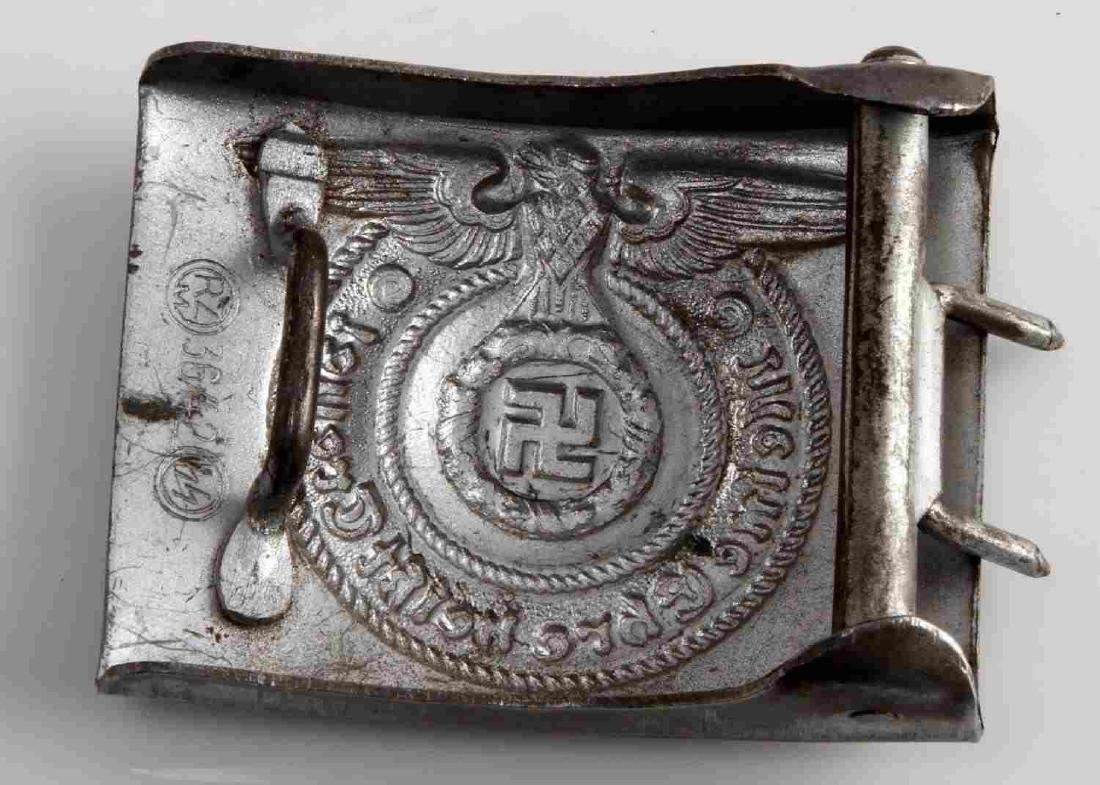 WWII GERMAN THIRD REICH WAFFEN SS EM BELT BUCKLE - 2
