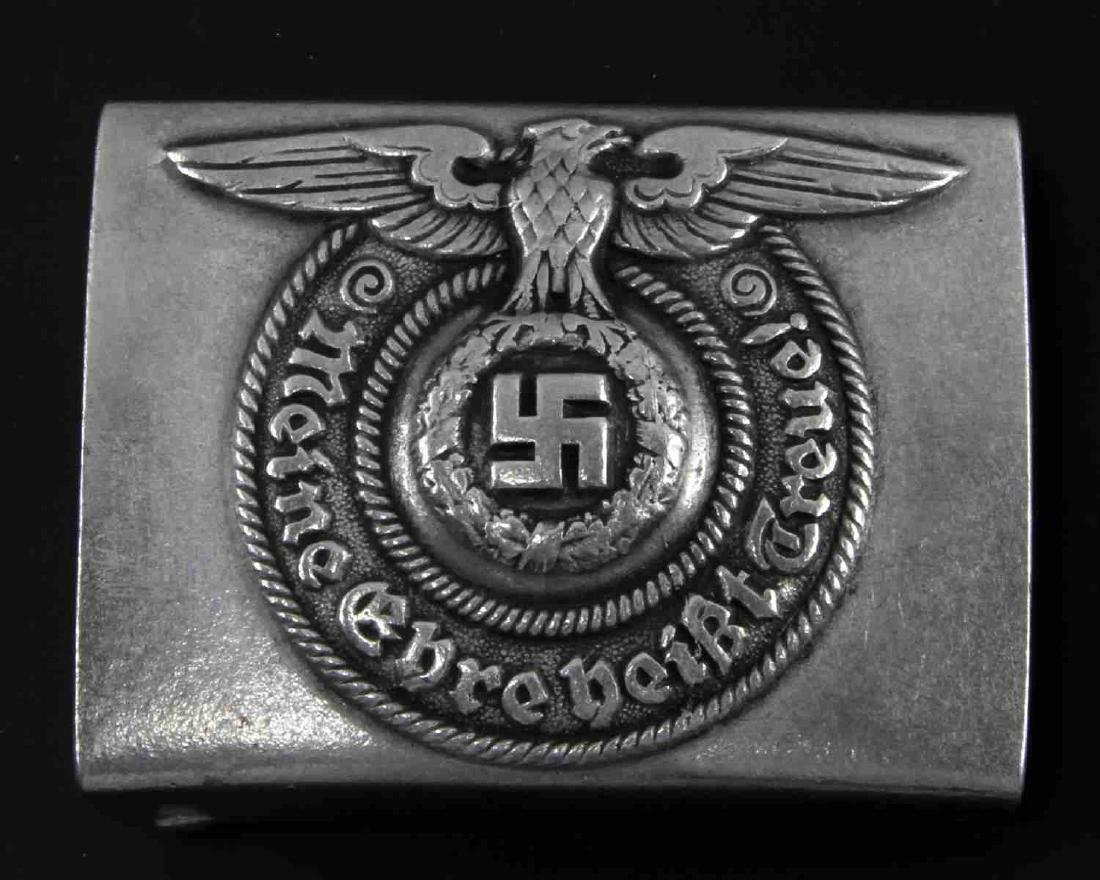GERMAN WWII WAFFEN SS ENLISTED MAN BELT BUCKLE RZM