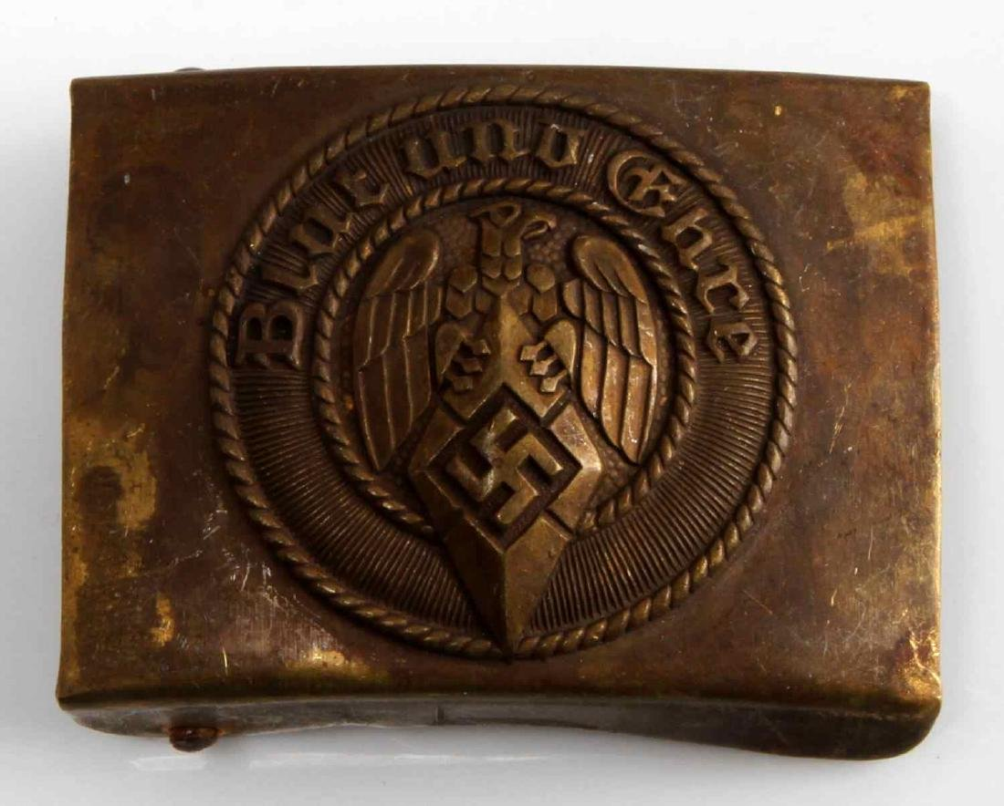 GERMAN WWII NAVAL KRIEGSMARINE HJ EM BELT BUCKLE