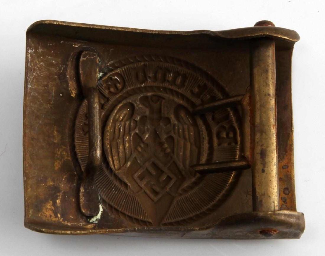 GERMAN WWII NAVAL KRIEGSMARINE HJ EM BELT BUCKLE - 2