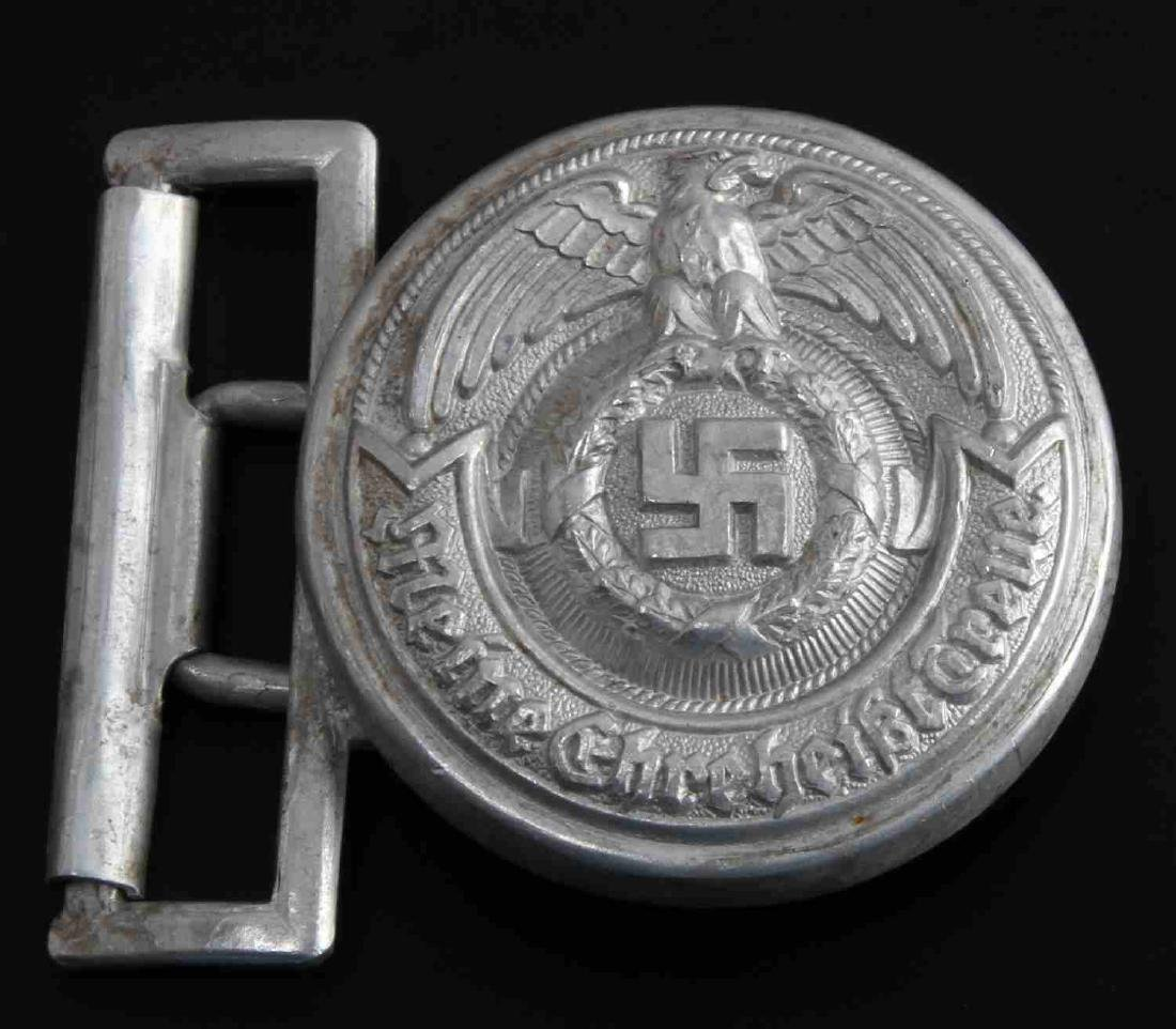 GERMAN WWII WAFFEN SS SCHUTZ STAFFEL BELT BUCKLE