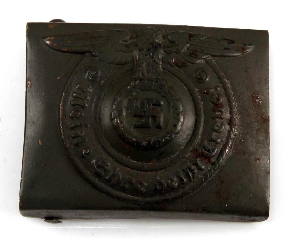 GERMAN WWII THIRD REICH WAFFEN SS EM BELT BUCKLE