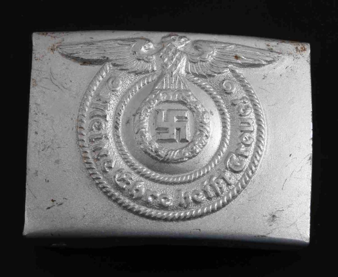 WWII GERMAN THIRD REICH WAFFEN SS EM BELT BUCKLE