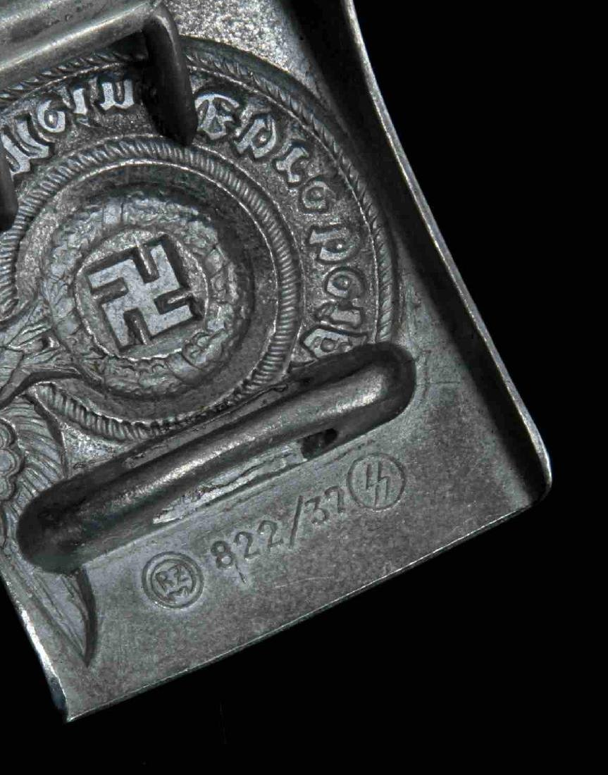 GERMAN WWII WAFFEN SS ENLISTED MAN BELT BUCKLE - 3