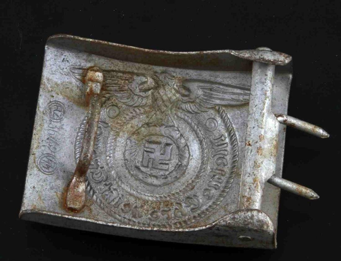 GERMAN WWII WAFFEN SS EM ALUMINUM BELT BUCKLE - 2