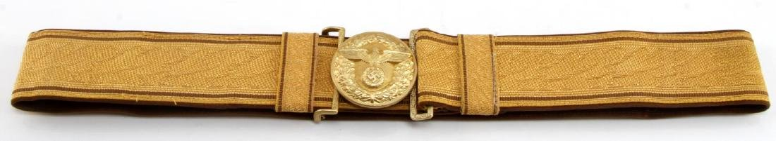 GERMAN WWII POLITICAL LEADER BROCADE BELT
