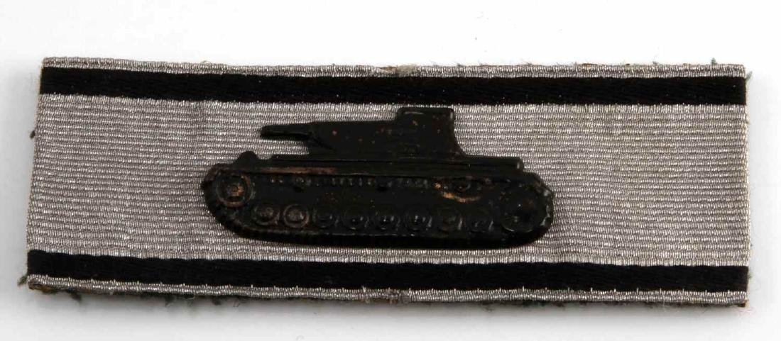 GERMAN WWII SILVER ARMY TANK DESTRUCTION STRIP