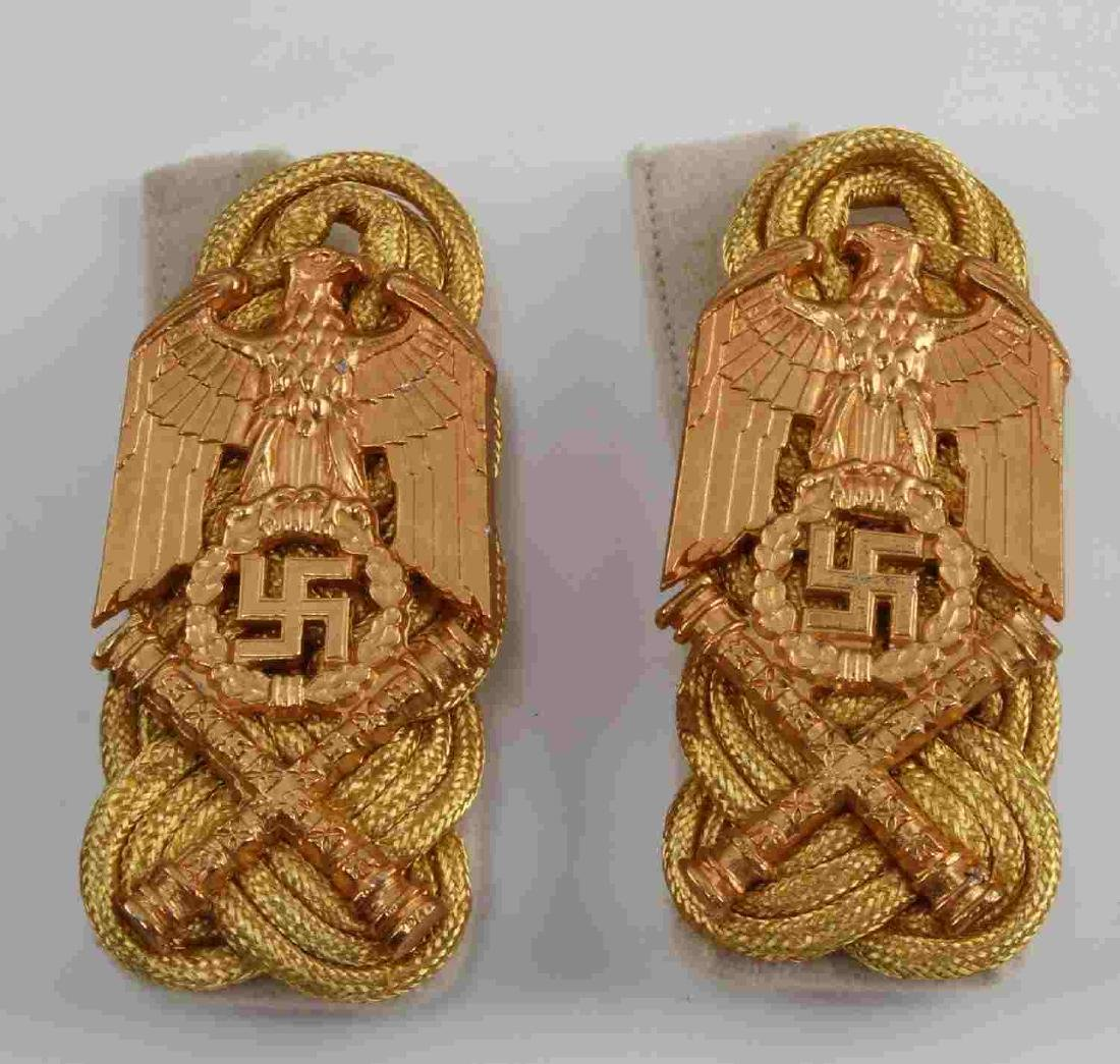 2 GERMAN WWII LUFTWAFFE GORING SHOULDER BOARD LOT