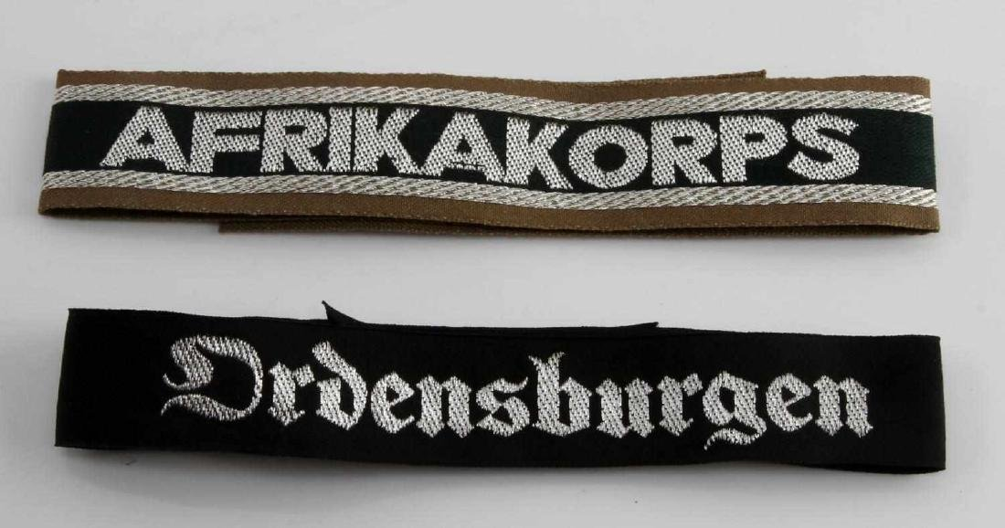 2 GERMAN WWII OFFICER CUFF TITLE LOT