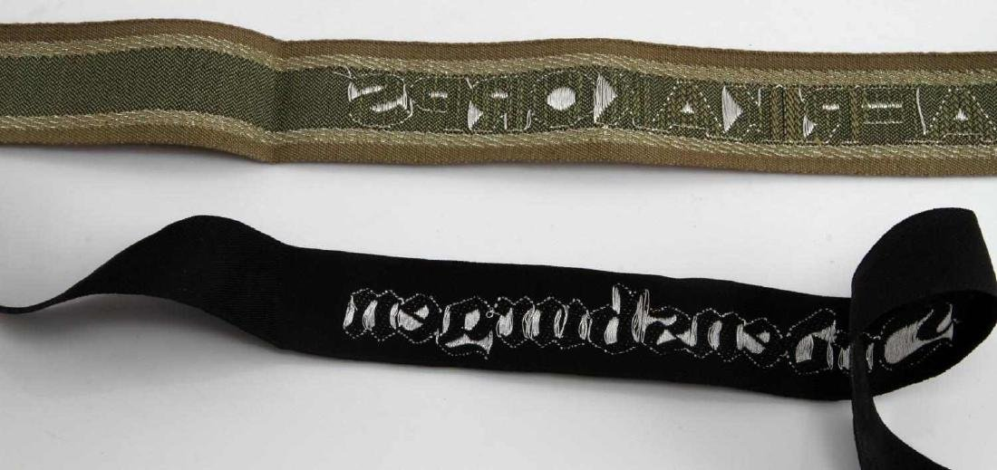 2 GERMAN WWII OFFICER CUFF TITLE LOT - 2