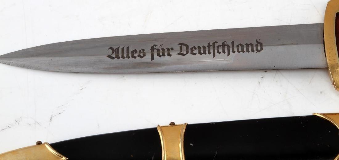 WWII GERMAN 3RD REICH SA MARINE OFFICERS DAGGER - 3
