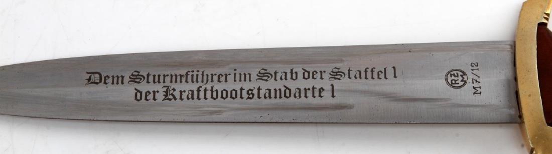 WWII GERMAN 3RD REICH SA MARINE OFFICERS DAGGER - 4