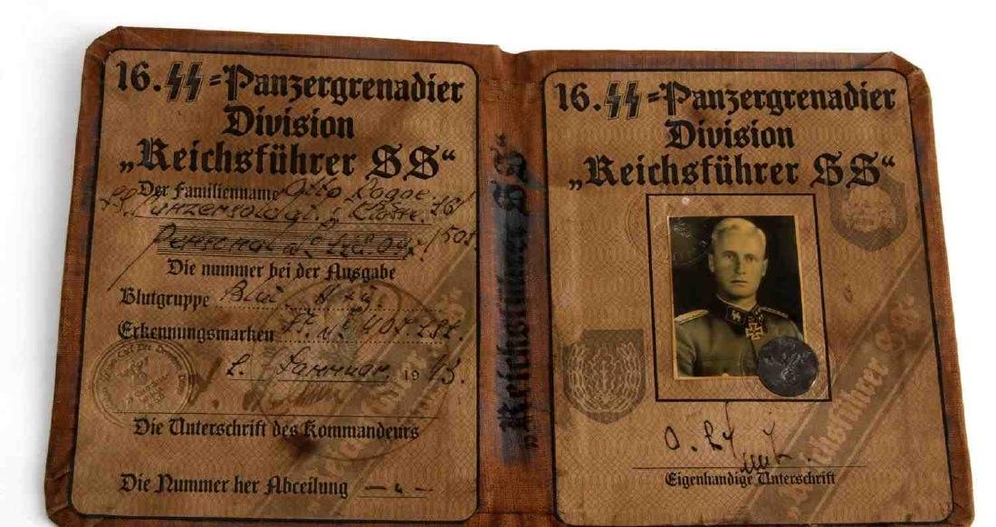 WWII GERMAN THIRD REICH WAFFEN SS ID BOOK - 2
