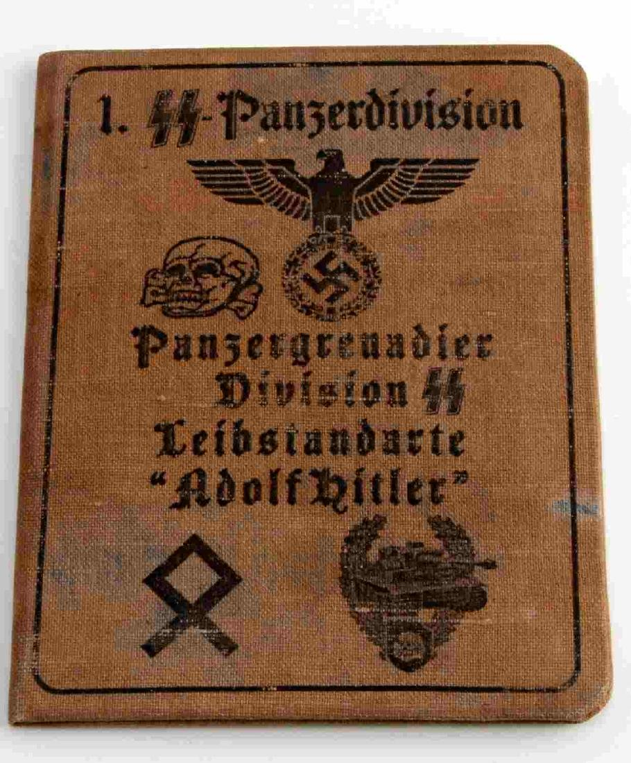 WWII GERMAN THIRD REICH SS LAH SOLDIER ID BOOK