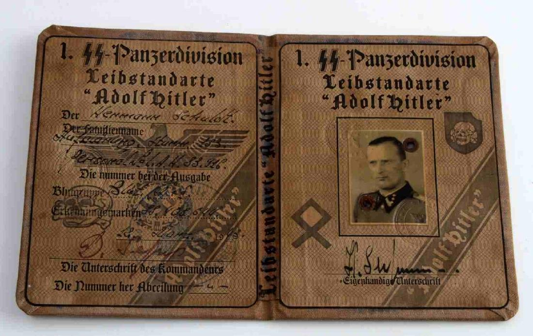 WWII GERMAN THIRD REICH SS LAH SOLDIER ID BOOK - 2