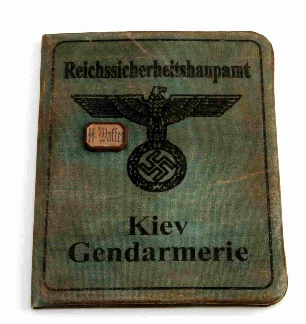 GERMAN WWII SS KNIGHTS CROSS RECIPIENT AUSWEIS