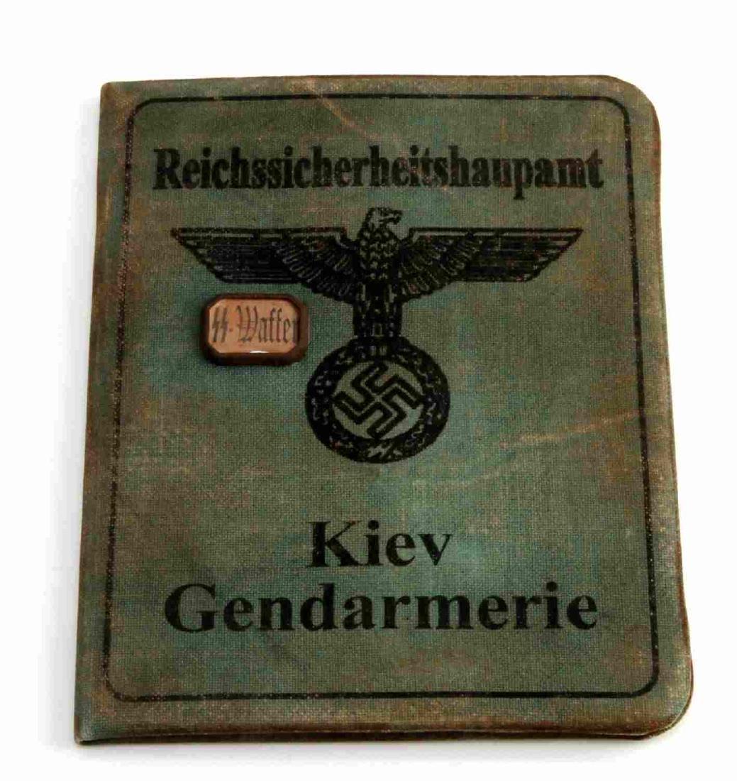 GERMAN WWII SS KNIGHTS CROSS RECIPIENT AUSWEIS