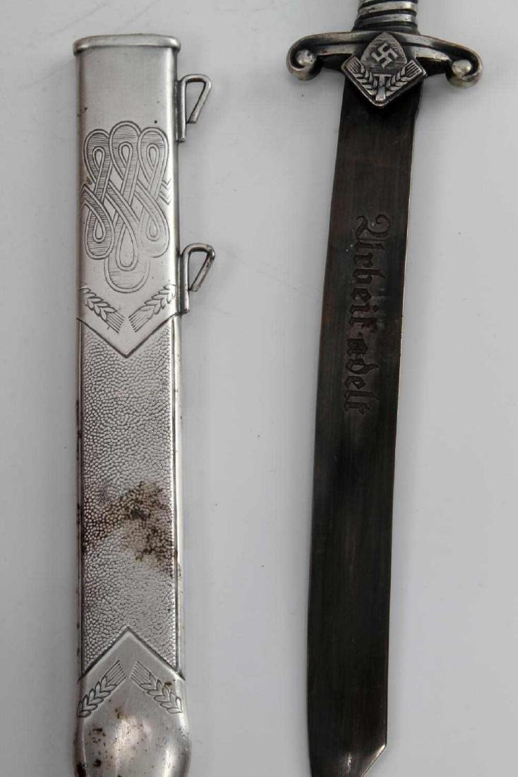 WWII GERMAN THIRD REICH MINI RAD DAGGER & SCABBARD - 3